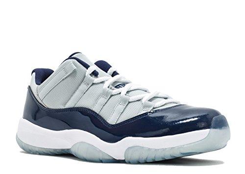 Nike Heren Air Jordan 11 Retro Laag Georgetown Grijze Nevel / Wit-midnight Navy Synthetische Basketbal