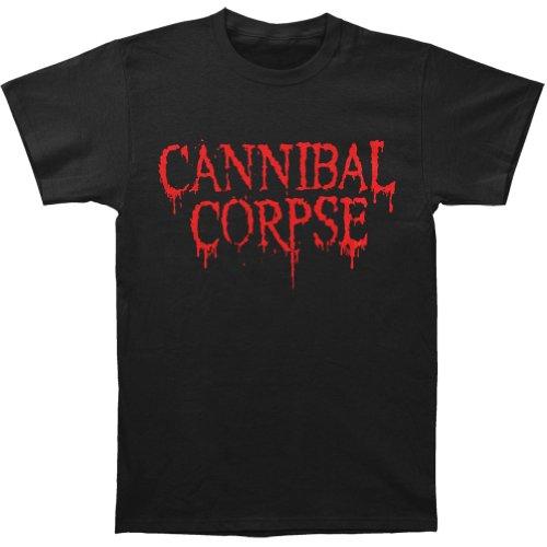 Cannibal Corpse Men's CC Logo-2012 Dates T-shirt X-Large Black