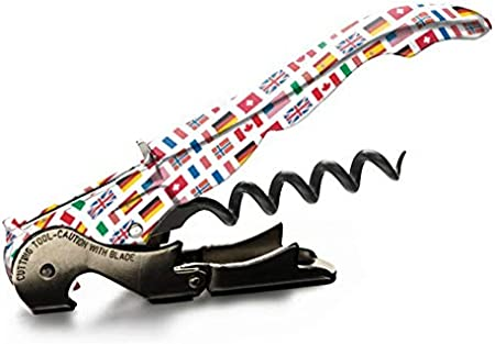 Sacacorchos - Pulltap's Genuine – Slider 900 - Colección Countries – Countries - Sacacorchos profesional- doble palanca - camarero - sommelier - original - fabricado en España