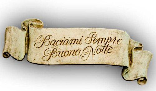 Italian Decor Plaque Always Kiss Me Goodnight (Decor Bedroom Italian)