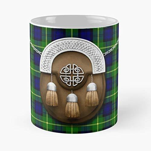 Gordon Clan Tartan - Coffee Mugs Unique Ceramic Novelty Cup For Holiday Days 11 Oz.