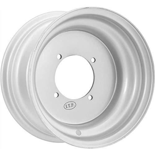 ITP Steel Wheel - 9x9 - 3+6 Offset - 4/110/130 - Silver , Bolt Pattern: 4/110,4/130, Rim Offset: 3+6, Wheel Rim Size: 9x9, Color: Silver, Position: Rear 0925810700