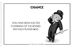 Amazon.com: Monopoly Chance Card - Elected Chairman of the Board ...