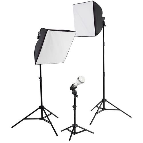 Westcott uLite 3-Light Kit, Includes 2x uLite Collapsible Softbox, uLite Reflector, 3x Daylight LED Bulb with Tungsten Cover, 2x Tungsten Photoflood Bulb (Photoflood Lighting Kit)