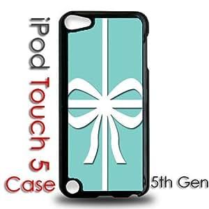 IPod 5 Touch Black Plastic Case - Tiffany Box Blue Bow