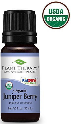 Plant Therapy Juniper Berry Organic Essential Oil 10 mL (1/3 oz)100% Pure, Undiluted, Therapeutic Grade