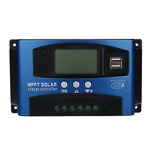 Solar Panel Charge Controller- 60A MPPT Solar Panel Regulator Intelligent Charge Controller 12V/24V Auto Focus Tracking