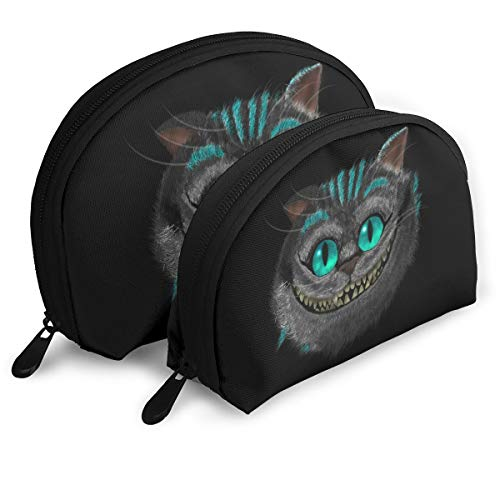 Cheshire-Cat Set Of 2 Portable Makeup Bag Cosmetic Pouch Bag Travel Bag For Women -