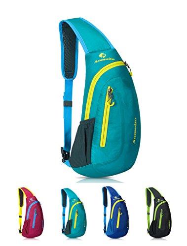 Bag For Hiking Travel Green Crossbody Men Shoulder Women Backpack Sling Lightweight qwHxfXpx