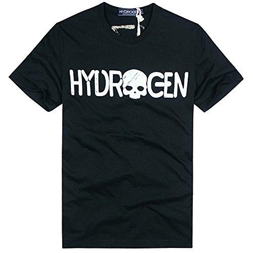 HYDROGEN ポロシャツ メンズ ゴルフ コットン 綿 100% 半袖 夏 プリント18723199 [並行輸入品]