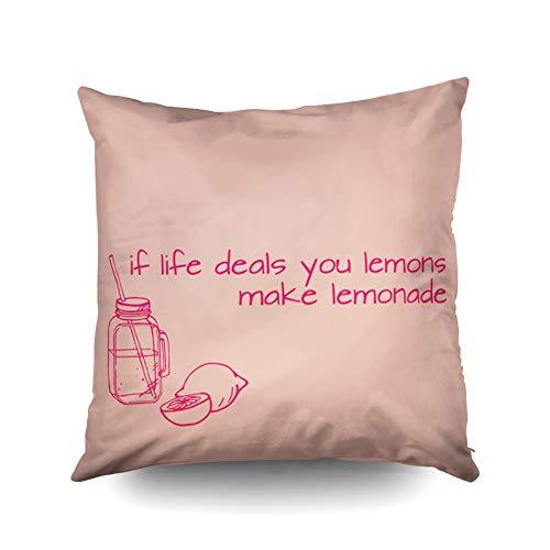 Buy lemonade 20-inch square indoor/outdoor throw pillow in lemon