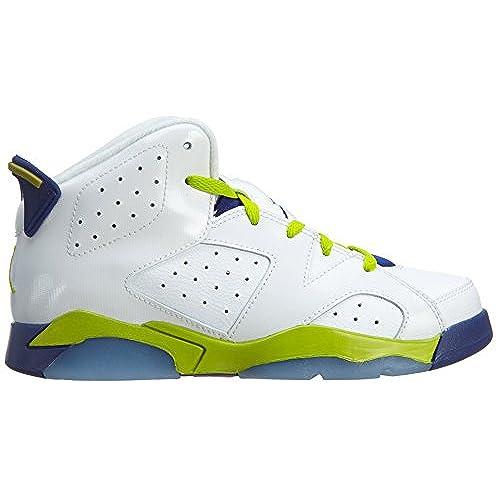 SIZE: 1Y Nike Jordan 6 Retro White//Deep Royal//Hyper Pink//Fierce Green 543389-108