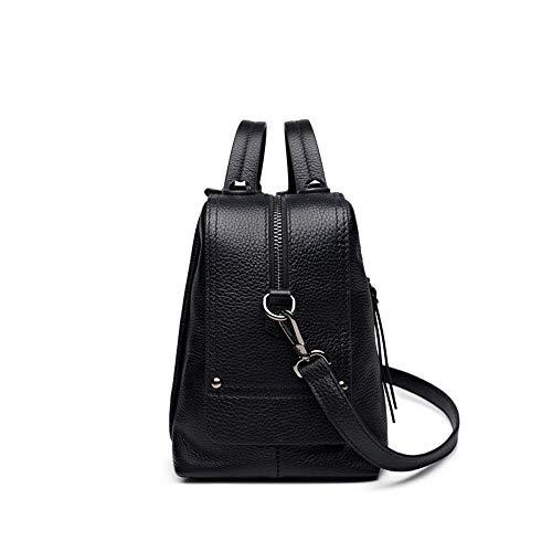 capienza della della del delle traco cuoio borsa diagonale di superiore Memoria sacchetto dello del grande Borse femminile strato del del litchi spalla femminile Nero di cuscino a Pacchetto modello donne wxAqWnnOgX