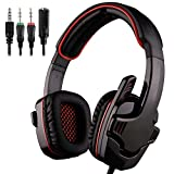 QJGhy Gaming Headset Gaming Headset Stereo Gaming Headset for PS4 Mobile Xbox PC Gaming Headphones with Microphone Headset Color  Black