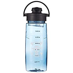 Silicone Tritan Plastic Water Bottle, Blue - 750 ml