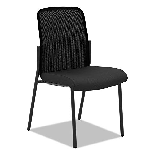 HON Instigate Stacking Chair - Mesh Back Multi-Purpose Guest Chair for Office Space, Black (HVL508)