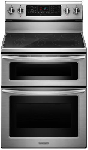 kitchenaid kers505xss 30inch 5element double oven range with even