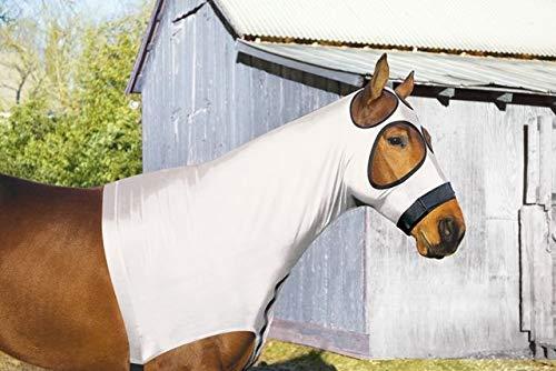 Perri's Improved Mesh Lycra Mane Hood, White, Large
