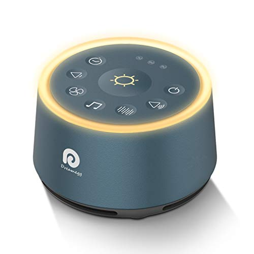 Sound Machines for Sleeping - Dreamegg D1 White Noise Machine with Soothing Night Light, 21 Non-Looping Sounds, Continuous or Timer, Sleep Sound Machine for Baby/Kids/Adult/Office, USB or AC Powered
