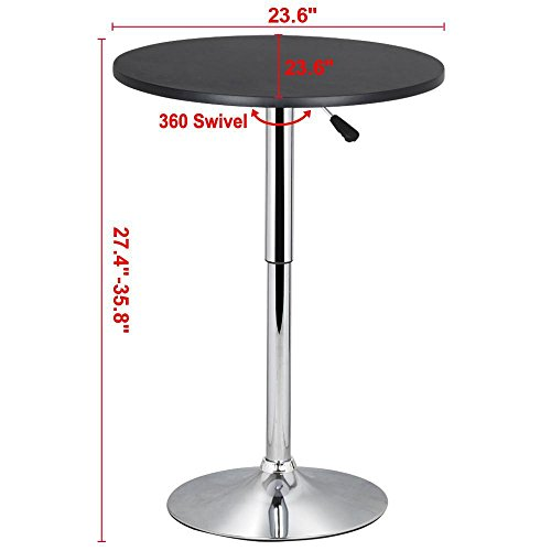 Topeakmart Pub Table Adjustable 360 Swivel Round Bar Table  : 41vI2M1tirL from www.desertcart.ae size 500 x 500 jpeg 20kB