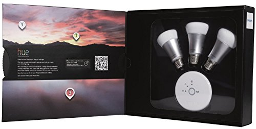 046677426354 - Philips Hue White and Color Starter Kit (Old Model, 1st Generation), 3 Bulbs and a Bridge, Works with Amazon Alexa carousel main 1