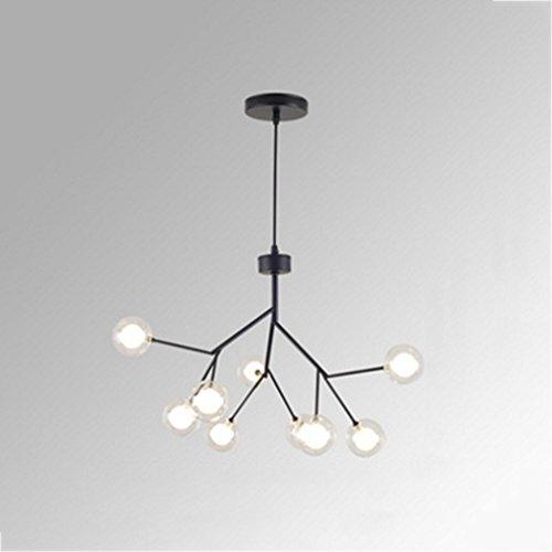 $chandelier Postmodern 55cm Lámpara LED de Luz Luciérnaga Rama Cubierta de Cristal Arte Nórdico Creativo Bjornled G4 Led...