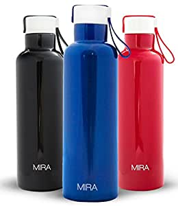Amazon Com Mira Vacuum Insulated Travel Water Bottle
