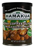 Hamakua Macadamias, Kona Coffee Glazed, 5.5-Ounce Canisters (Pack of 6)