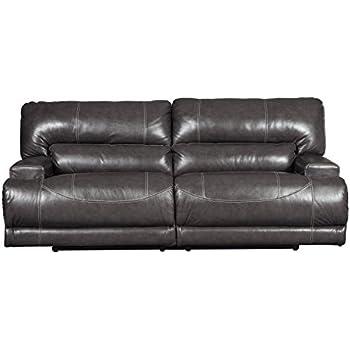 Amazon Com Mccaskill Contemporary Gray Color Leather