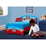 Nick Jr. PAW Patrol Wood Toddler Bed, Features 2 attached guardrails