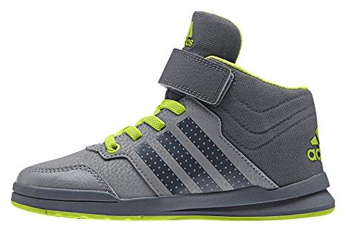 adidas Jan Bs 2 Mid C, Zapatillas de Gimnasia Unisex Bebé Gris / Verde (Gris / Onix / Seliso)