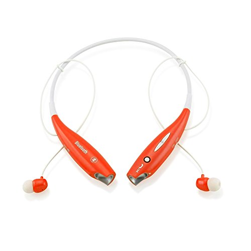 Gearonic Wireless Sport Stereo Headset Bluetooth Earphone Headphone for Samsung/LG/iPhone - Non-Retail Packaging - Orange