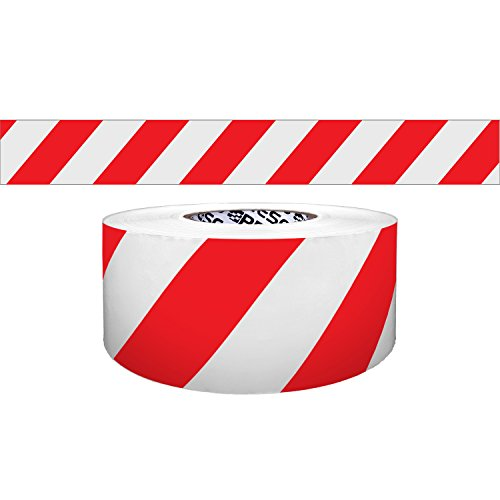 Presco Solids & Stripes Barricade Tape: 3 in. x 1000 ft. (Red with White stripes)