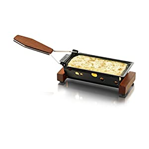 Boska Holland Partyclette To-Go Taste, Mini Tea Light Raclette Set, Dark Wood