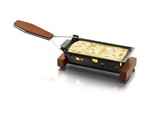 Boska Holland Partyclette To-Go Taste, Mini Tea Light Raclette Set, Dark Wood by Boska Holland