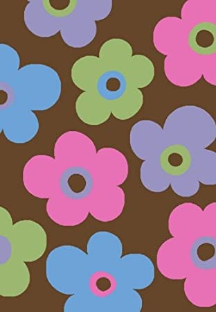 Amazoncom Glam Collection Flower Design 5x7 Flowers Brown