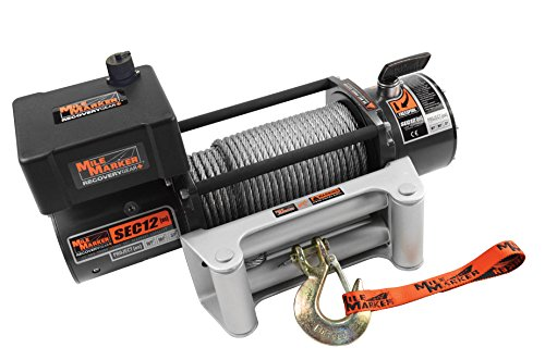 Mile Marker 76-50251BW SEC12(es) Truck/SUV Element Sealed Electric Winch - 12,000 lb. Capacity, 1 Pack