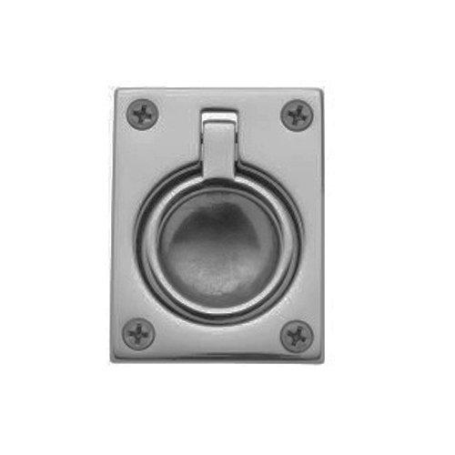 Baldwin Nickel Pulls - Baldwin 0394.150 Flush Ring Door Pull for Sliding Doors, Satin Nickel