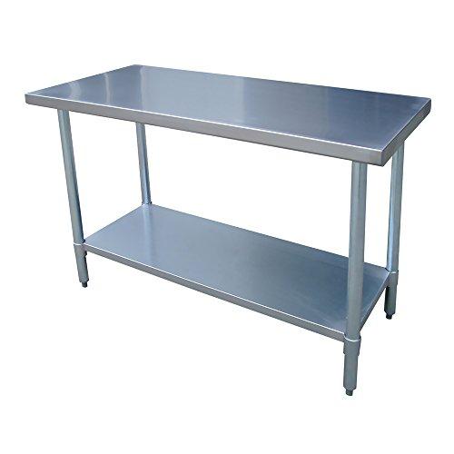 "Offex Stainless Steel Kitchen Garage Work Table - 24"" W x 48"