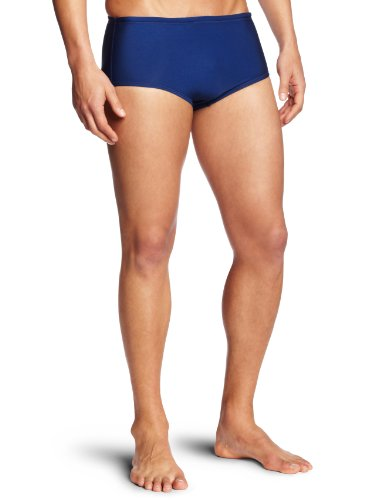 Speedo Men's Endurance Lite Color Block Drag Brief Swimsuit, Navy, ()