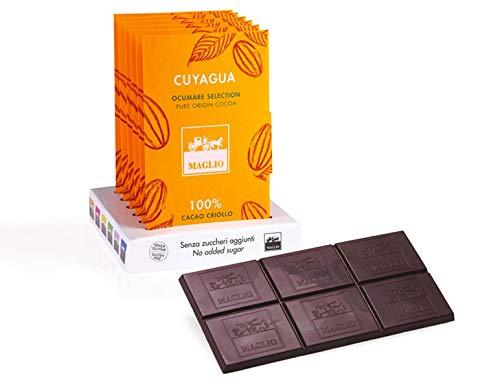 Maglio arte dolciaria, Barra de chocolate 100% Cuyagua Cacao Criollo 80g: Amazon.es: Alimentación y bebidas