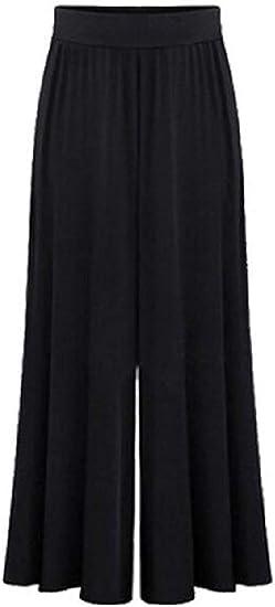 Women's Solid Loose Plus Size Elastic Waist Comfy Wide Leg Palazzo Yoga Pants