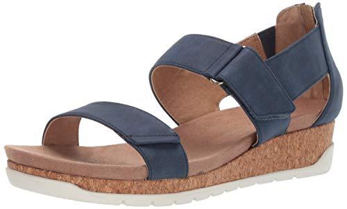 ADRIENNE VITTADINI Footwear Women's Taytum Sandal Denim 10 M US