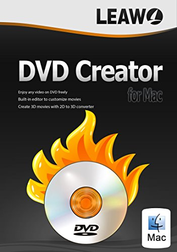 DVD Creator for Mac, Best DVD Burning Software for Mac, Burn DVD from Videos, Audios, and Photos in AVI, MP4, FLV, WMV, MP3, JPEG, etc. Create DVD in Disc, Folder, or ISO Image File.(1 Year)