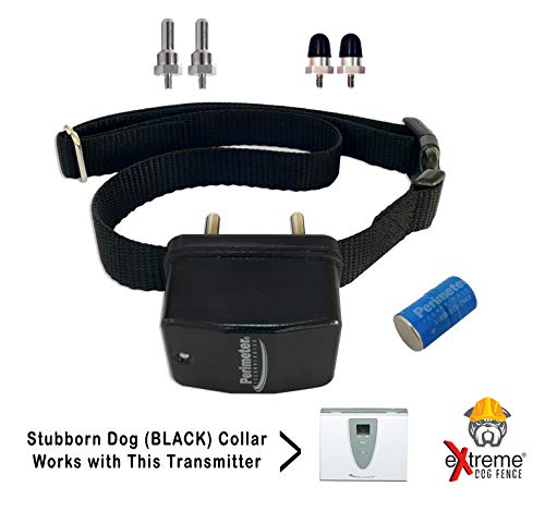 Extreme Dog Fence G1 Stubborn Dog Fence Dog Collar with Medium Contacts and Large Set of Contacts for Dogs That Need Stronger Correction Levels Than The Native Collars