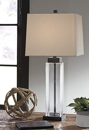 Alvaro Glass Table Lamp Set Of 2/Clear/Bronze/Contemporary