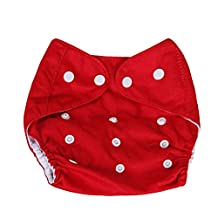 Refaxi Yellow Unisex Reusable Size Adjustable Washable Leakproof Baby Cloth Diaper Nappy