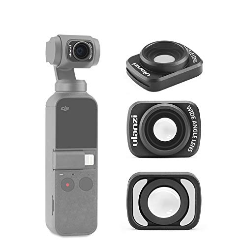 (ULANZI OP-5 18MM Wide Angle Lens Compatible with DJI OSMO Pocket Magnetic Structure HD Gimbal Accessories Professional)