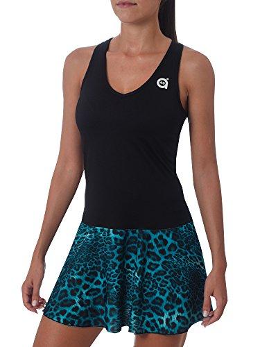 Vestido Color para Negro A40grados Sport mujer Style Vilo qcwFYAYtp