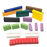 ETA hand2mind Plastic, Assorted Colors, Jumbo Cuisenaire Rods, Introductory Set with Tray (Set of 56)